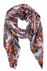 Colorful Leopard Print Long Rectangle Scarf