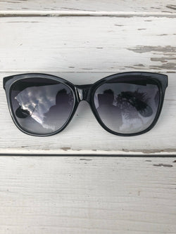 Vibe Spexx Black Sunglasses with Matte White Side Frame - UVA & UVB Protection