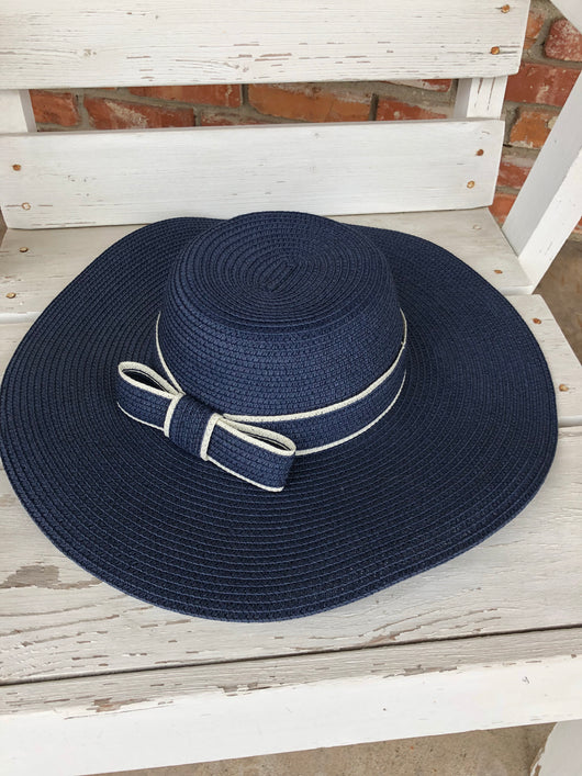 Blue Floppy Hat w/bow