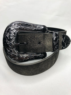 Charcoal Soft Genuine Leather Belt with Antique Silver Buckle adds a little glitter to your outfit  You can't go wrong adding a cute belt to any outfit. Check out our latest stylish belts.  Ships from the USA, unique style, fashion trends, country girl, stagecoach festival belts