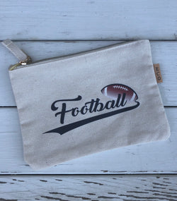 Football Fan Small Canvas Pouch w/zipper. OC Social Butterfly brings together a specially curated collection of clothing and accessories. From the latest trends to the most comfortable everyday attire at an affordable price. Ships from the USA, sports fans, bags, game day bags