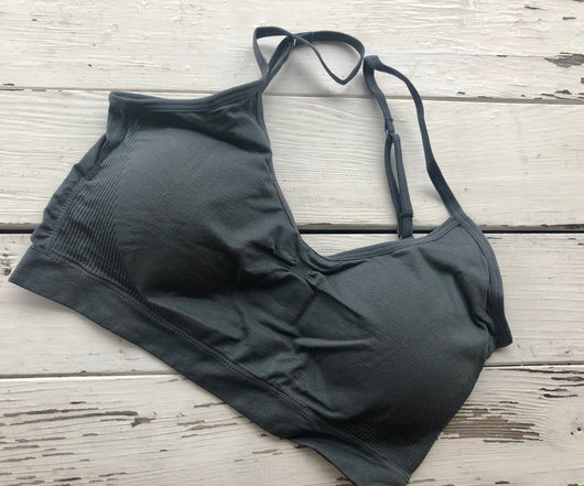 Dark Grey Dynamic Fashion Seamless Bralette OS