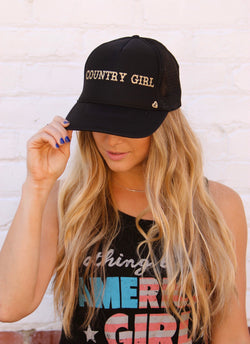 Country Girl MT Hat - Black