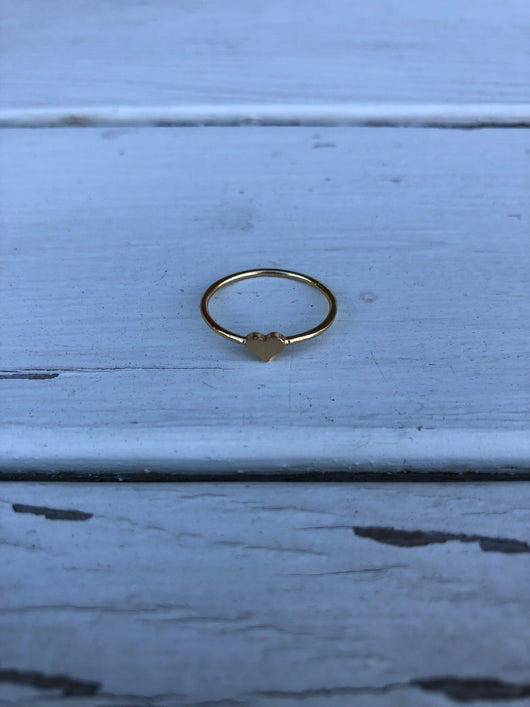 Gold Heart Ring - OC Social Butterfly