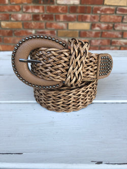 Light Brown Weaved Belt