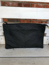 Black Leather Clutch/Purse