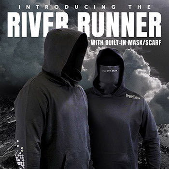 NEW RIVER RUNNER HOODIE WITH BUILT-IN MASK/GAITER