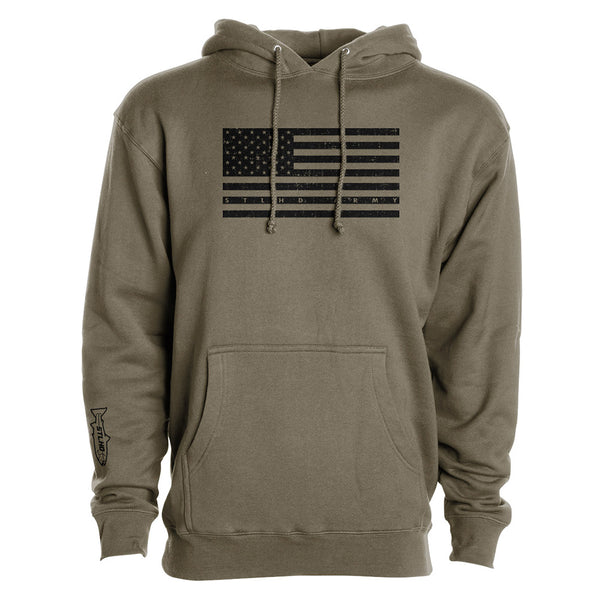 STLHD Men's Patriot Army Green Premium Hoodie