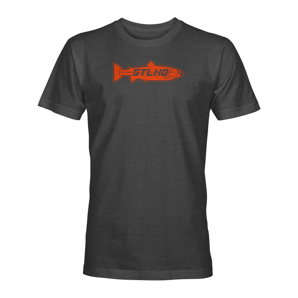 STLHD Men's Inside Orange on Charcoal T-Shirt