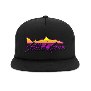 STLHD Sundowner Black Old School Foam Front Trucker Hat