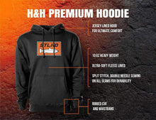 Load image into Gallery viewer, STLHD Men's Retro Fall Black Premium Hoodie - hhoutfitter