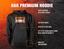 Load image into Gallery viewer, STLHD Men's Heavy Hitter Gunmetal Premium Hoodie - H&H Outfitters
