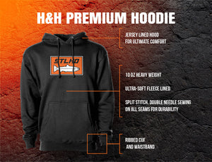 STLHD Men's Gone Social Distancing Black Premium Hoodie - hhoutfitter