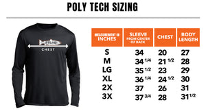 STLHD Men's Inside Pro Poly Tech Black Long Sleeve Shirt - hhoutfitter