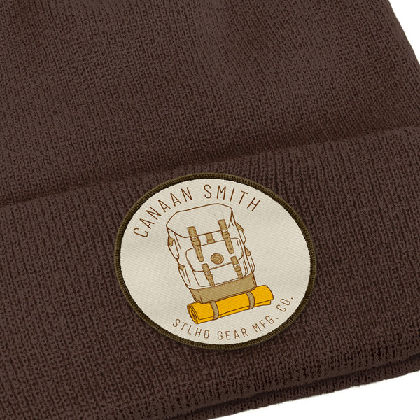 Canaan Smith X STLHD Mountaineer Brown Beanie Knit Hat