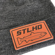 Load image into Gallery viewer, STLHD Rawhide Grey Beanie Knit Hat