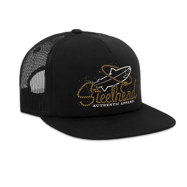 STLHD Buckaroo Black Old School Foam Front Trucker Hat