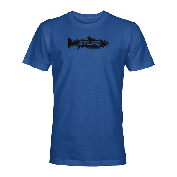 STLHD Men's Inside Black on Royal Blue T-Shirt