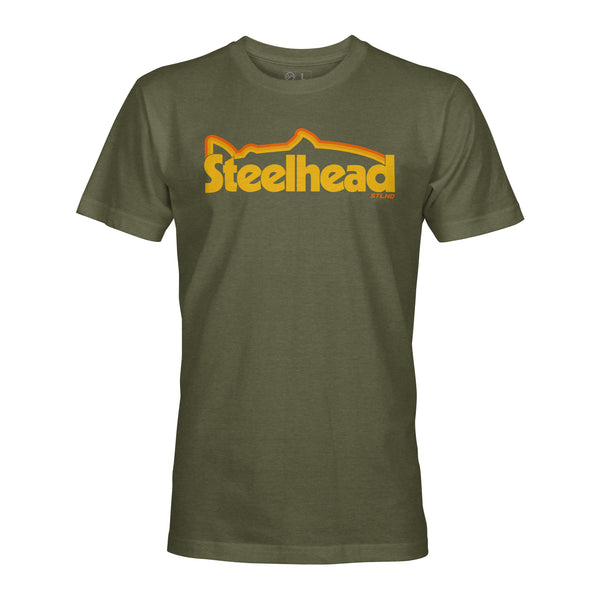 STLHD Men's Retro Military Green T-Shirt - hhoutfitter