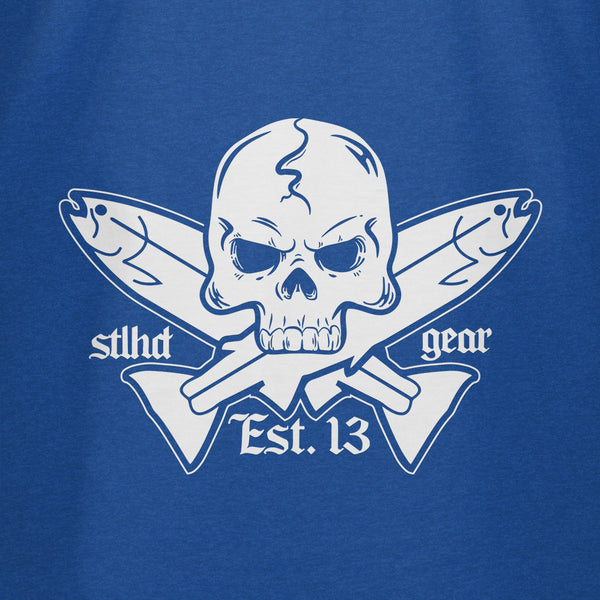STLHD Men's Jolly Roger Royal Blue T-Shirt