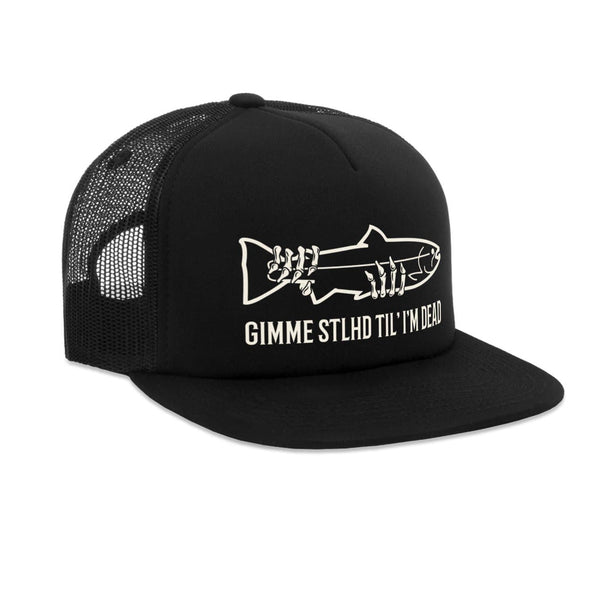 STLHD Gimme STLHD Black Old School Foam Front Trucker Hat - H&H Outfitters