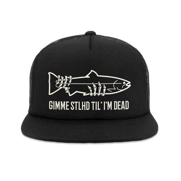 STLHD Gimme STLHD Black Old School Foam Front Trucker Hat - hhoutfitter