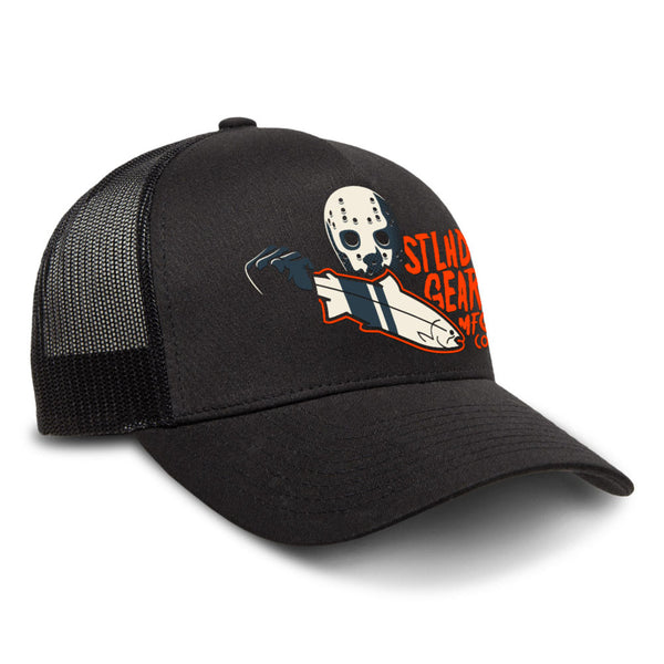 STLHD Slayer Black Snapback Trucker Hat