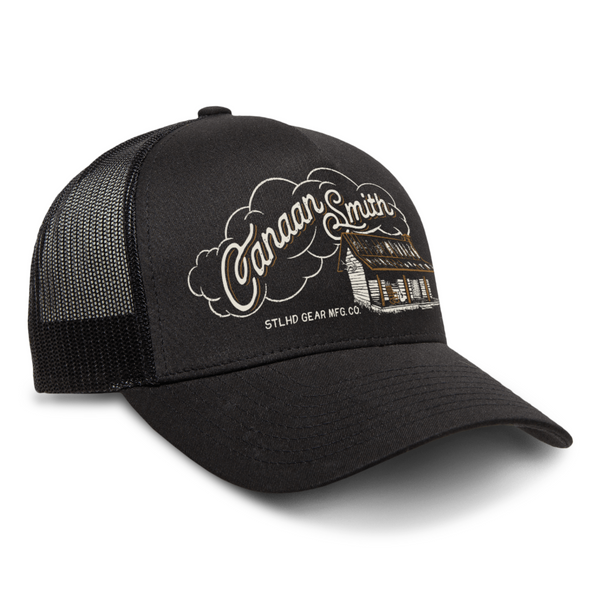 Canaan Smith X STLHD Cabin In The Woods Black Snapback Trucker Hat