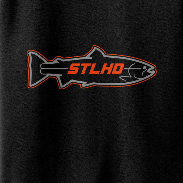 STLHD Men's Stealth Poly Tech Black Long Sleeve Shirt