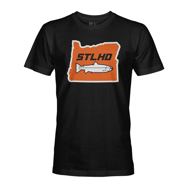 STLHD Men's Oregon State Frame Black T-Shirt - hhoutfitter