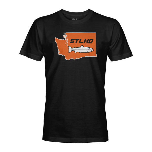 STLHD Men's Washington State Frame Black T-Shirt - hhoutfitter