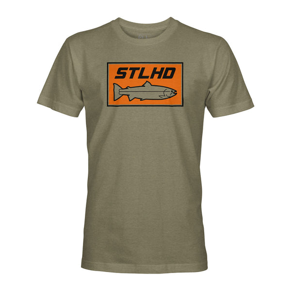 STLHD Men's Woodlands Olive Green T-Shirt - hhoutfitter