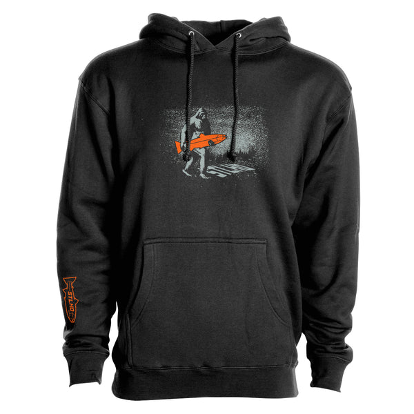 STLHD Men's Elusive Midnight Black Premium Hoodie - hhoutfitter