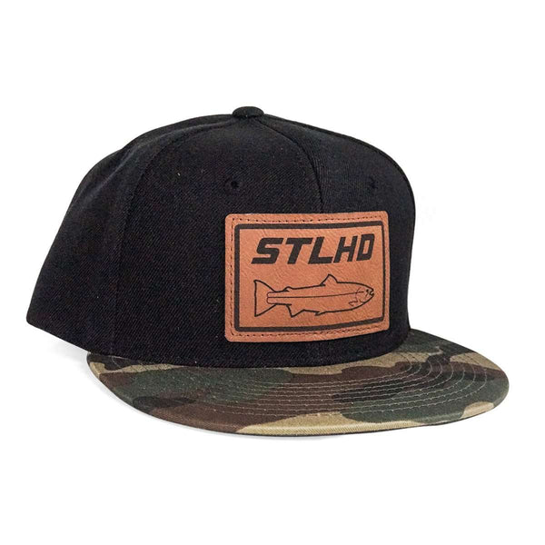 STLHD Full Send Camo/Black Flat Bill Hat - hhoutfitter