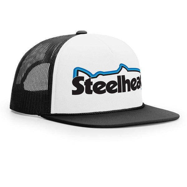 STLHD Retro Fall White/Black Old School Foam Front Trucker Hat - hhoutfitter