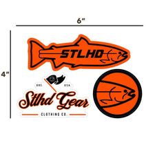 "Load image into Gallery viewer, STLHD Logo Sticker Pack - 6"" x 4"" - hhoutfitter"