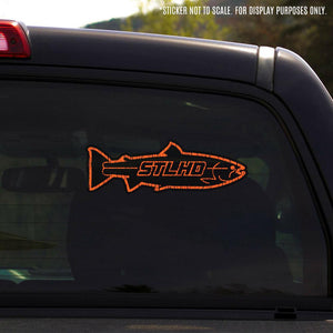 "STLHD Inside Black/Orange Sticker - 8.59"" x 3"" - hhoutfitter"