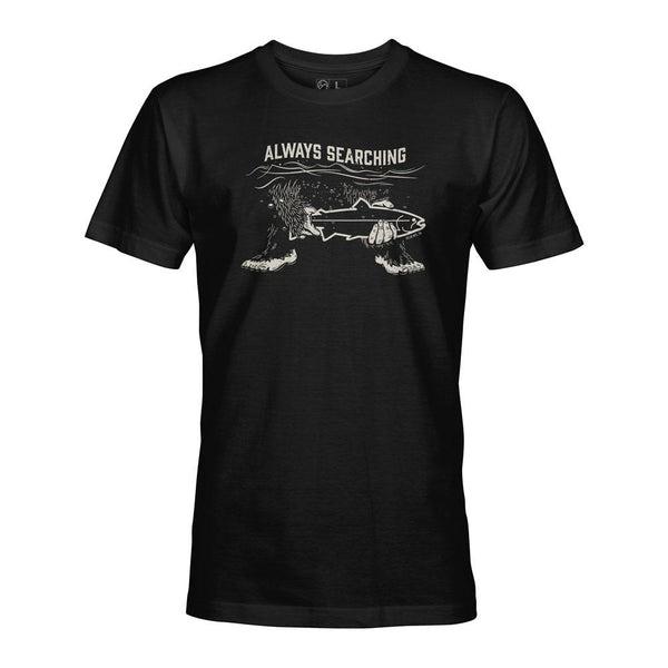 STLHD Men's Always Searching Black T-Shirt - H&H Outfitters