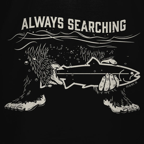 STLHD Men's Always Searching Black T-Shirt - hhoutfitter