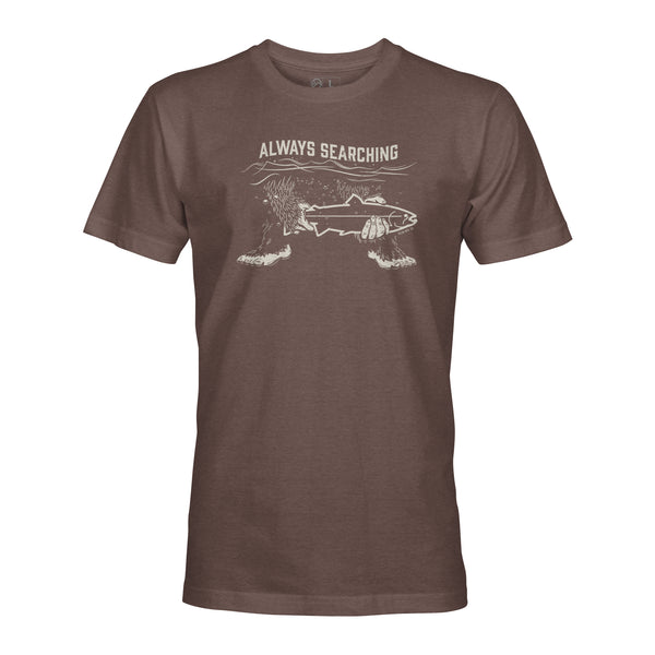 STLHD Always Searching Espresso T-Shirt - hhoutfitter