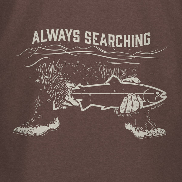 STLHD Men's Always Searching Espresso T-Shirt - hhoutfitter