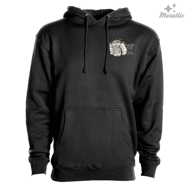 STLHD Men's Drinking Buddy Black Premium Hoodie - hhoutfitter