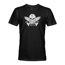 Load image into Gallery viewer, STLHD Men's Jolly Roger Black T-Shirt - hhoutfitter