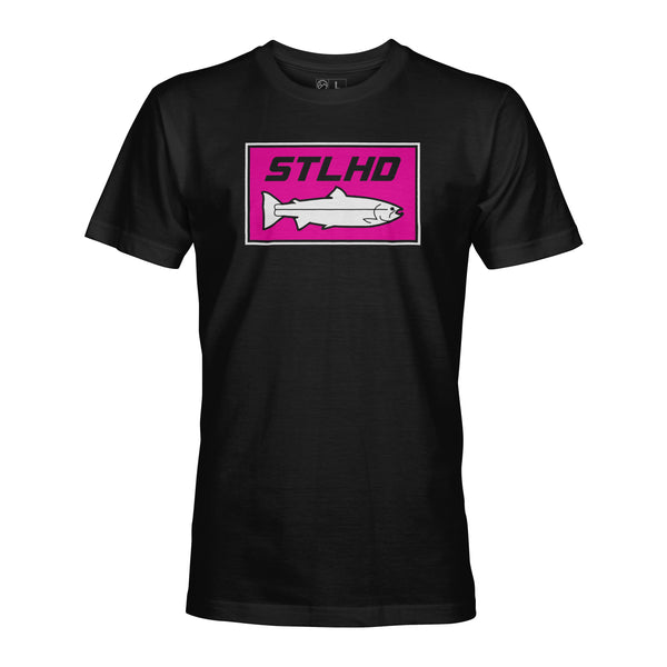 STLHD Neon Pink Black T-Shirt - hhoutfitter