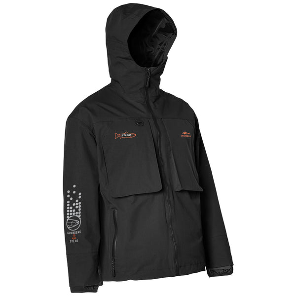 STLHD Men's Limited Edition Grundéns X STLHD Storm Rider Black Jacket - H&H Outfitters