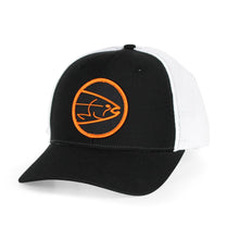 Load image into Gallery viewer, STLHD Mad River Black/White Flexfit Trucker Hat - H&H Outfitters