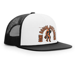 STLHD Gone Social Distancing White/Black Old School Foam Front Trucker Hat - hhoutfitter