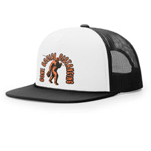 Load image into Gallery viewer, STLHD Gone Social Distancing White/Black Old School Foam Front Trucker Hat - hhoutfitter