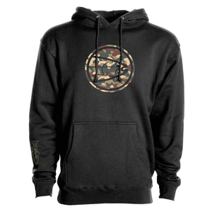 STLHD Men's Eclipse Army Black Premium Hoodie - hhoutfitter