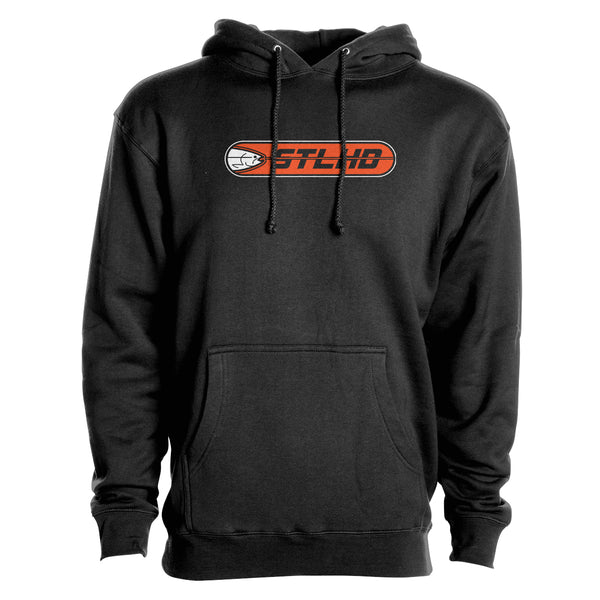 STLHD Men's Striker Black Premium Hoodie - hhoutfitter